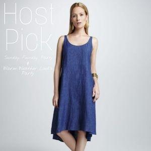 Eileen Fisher Linen Chambray Dress